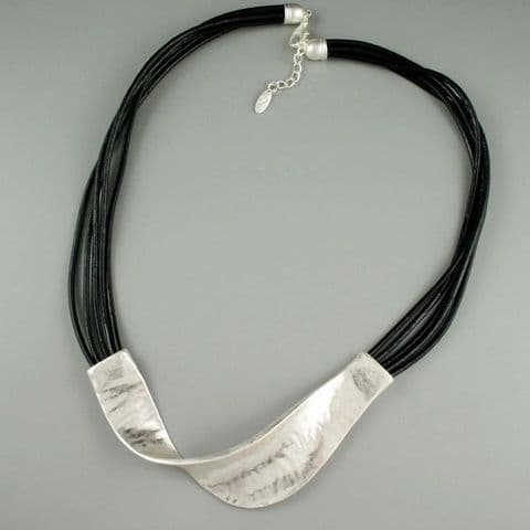 Multi Strand Necklace/Choker with Twist Curve Feature - 3 Colour Choices